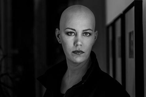 Harald Peter, Christine Raab, Aschaffenburg, schwarz-weiß, Glatze, Frau, Fotoshooting, Make-Up Artist, (1)